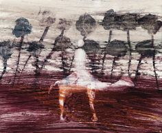 "SIDNEY NOLAN,  ""EXPLORER AND CAMEL""  24.5 x 30.0 cm  mixed media on paper"