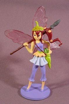 "Disney Bess Fairy Figure On Base, Tinkerbell's Pixie Hollow, 4 1/2"" Tall"
