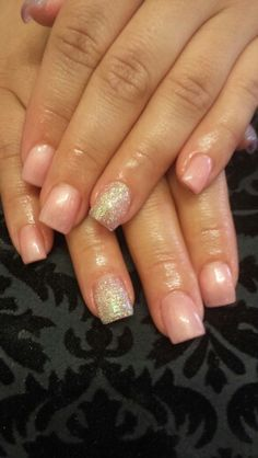 Sea shell pink and glitter