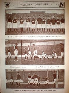 Aston Villa 2 Everton 1 in Oct 1902 at Villa Park. Action from the Division clash. Aston Villa Fc, Bristol Rovers, Sir Alex Ferguson, Villa Park, Corinthian, Everton, Football, History, Division