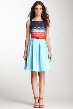 Eva Franco Pleated Stripe Linen Dress by Assorted on @HauteLook