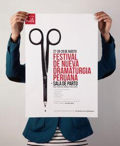 Festival de nueva dramaturgia peruana on Behance