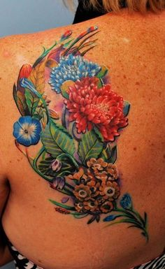 I'm obsessed with brightly colored tattoos!