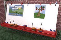 ChildBrite Double Fence Easel for Children
