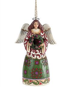 Jim Shore Christmas Ornaments, Christmas Collection - Angel with Wreath - Holiday Lane - Macy's