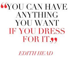 dress the part.