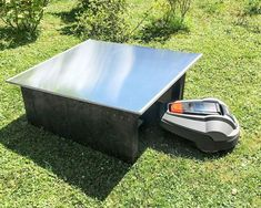 Rasenmäher Garage Rasenroboter Mähroboter Dach Carport Mower Haube Robomover