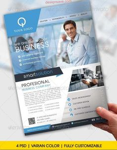 Flat Design Business Flyer   More Business flyers and Flat design ...