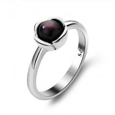 925 Sterling Silver With Natural Fresh Water Pearl Ring - USD $79.95