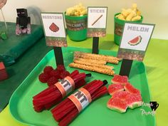 Ideas Para, Birthday Table, Cubes, Afternoon Snacks, Trays