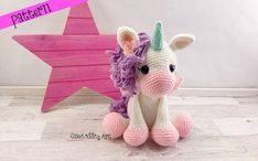 **PLEASE NOTE THIS LISTING IS FOR CROCHET PATTERN NOT ACTUAL TOY** this listing is for Paige the Pegasus crochet pattern There are two different wing options included She measures 15 tall when using a D hook and weight 4 yarn I recommend it as an intermediate pattern. The
