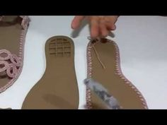 Sandália de Crochê com Fivela - vídeo completo - YouTube