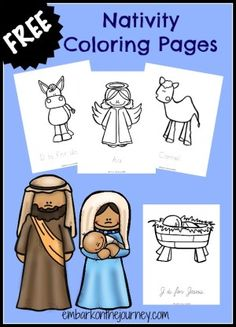 40 Nativity Coloring Pages With A Craft List For Kids This Pack And Resource