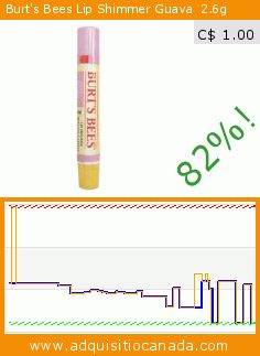 Burt's Bees Lip Shimmer Guava  2.6g (Health and Beauty). Drop 82%! Current price C$ 1.00, the previous price was C$ 5.51. https://www.adquisitiocanada.com/burts-bees/lip-shimmer-guava-26g