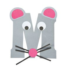 """M Is For Mice"" Letter M Craft Kit - OrientalTrading.com"