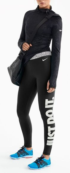 35 Best Sport Outfit Fitness Women's Gym & Workout Clothes Nike Womens Workout Clothes, Nike Women Workout, Nike Workout, Workout Shoes, Sweat Workout, Gym Clothes Women, Workout Clothing, Workout Pants, Athletic Outfits