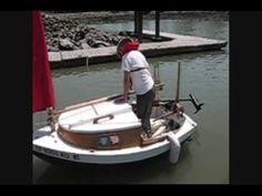 9-foot sailing boat/Yawl. Sits two people, has a minn kota 50 motor.