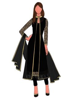 Buy Black Art Dupion Silk Churidar Suit With Jacket online, SKU Code: SLBS1803834. This Black  color Party churidar suit for Women comes with Sequins  Net . Shop Now!