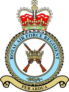 RAF Regiment Badge. (Table) Air Force Images, Military Life, Military Cap, Military Insignia, Royal Air Force, British Army, Royal Navy, Special Forces, Coat Of Arms