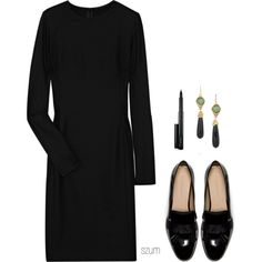 A fashion look from August 2013 featuring padded shoulder dress, Yves Saint Laurent and mac cosmetics. Browse and shop related looks.