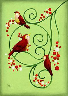 3birds by sanposter, via Flickr