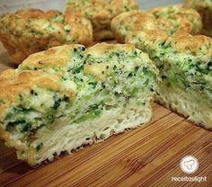 Muffins low carb Receita B Veggie Recipes, Low Carb Recipes, Vegetarian Recipes, Cooking Recipes, Healthy Recipes, Comidas Fitness, Dieta Fitness, Good Food, Yummy Food