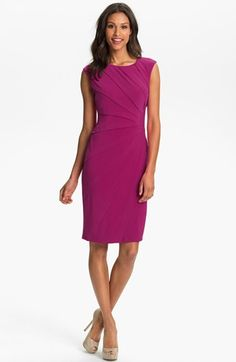Adrianna Papell Seamed Jersey Sheath Dress (Petite) available at #Nordstrom