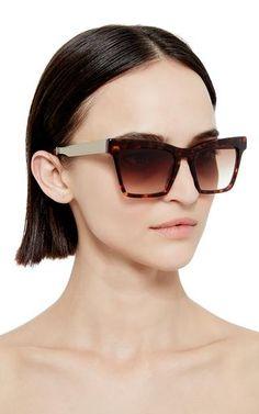 44c0316d77 Tortoiseshell Cremaster Angular Unisex Sunglasses by Ellery Now Available  on Moda Operandi Cat Eye Sunglasses