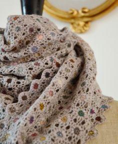 Sophie Digard crochet wool scarf / echape wool nitro (3814-MR/NRBVG) by Sophie Digard   petiteparis