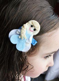 Princess Elsa Inspired Hair Clip Frozen by CravingCuteness, $3.75