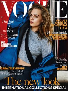 Cara Delevignefor VOGUE UK September Issue