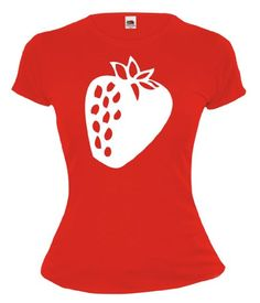 This silhouette for wall art with my patterned japanese paper?  Amazon.com: Girlie T-Shirt Strawberry-Fruit-Silhouette: Clothing