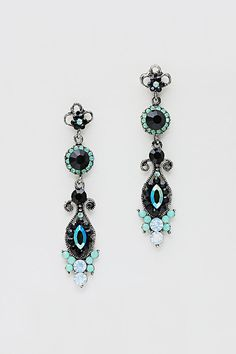 Averly Earrings in Crystal Mint on Emma Stine Limited