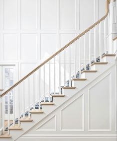 Staircase Molding, Stair Paneling, Stair Walls, Wainscoting Stairs, Staircase Storage, Staircase Makeover, Moulding, Wall Molding, Stairs Trim