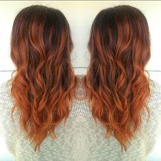 Copper balayage! Hair by Allison Varela