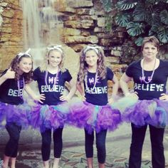 Made for the girls. Justin Bieber Concert- The tutus have LED lights sewing in
