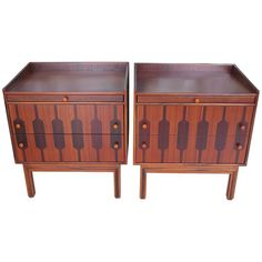 Pair of Rom Weber Rosewood Nightstands | From a unique collection of antique and modern night stands at https://www.1stdibs.com/furniture/tables/night-stands/