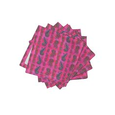 Frizzle Cocktail Napkins featuring LIZARD GECKO FUSHIA Small by paysmage | Roostery Home Decor