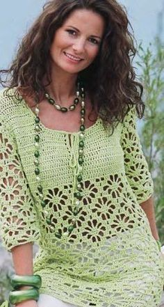 Openwork crochet tunic