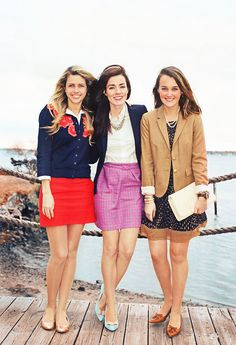 Classy Girls Wear Pearls: preppy east coast style for working women or students Preppy Outfits, Fall Outfits, Cute Outfits, Fashion Outfits, Fashion Hats, Fashion Watches, Stylish Outfits, Estilo Preppy, Classy Girl