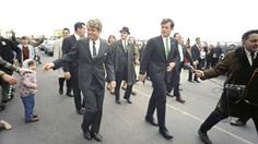 Sen. Robert Kennedy with brother, Sen. Edward Kennedy during the St. Patrick's Day Parade in South Boston, March 17, 1968. (AP Photo/J.W. Green) ❤✽❤✽✽❤✽❤✽❤  http://en.wikipedia.org/wiki/Ted_Kennedy   http://en.wikipedia.org/wiki/Robert_F._Kennedy