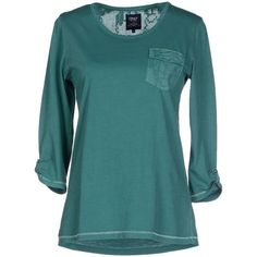 Only T-shirt ($53) ❤ liked on Polyvore featuring tops, t-shirts, green, green top, blue pocket t shirt, green t shirt, blue top and pocket t shirts