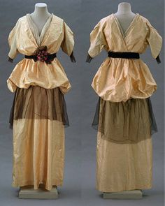Evening dress by Jeanne Lanvin, ca 1913 France