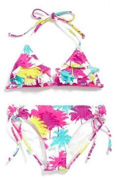 Cute ruffled bikini for the little gal