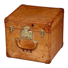 All leather 'Hat trunk' by Louis Vuitton, c, 1920 | From a unique collection of antique and modern trunks and luggage at http://www.1stdibs.com/furniture/more-furniture-collectibles/trunks-luggage/