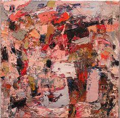 Patrick Bradley, Expulsion, oil on canvas, 45cms x 45cms  DeKooning influences . . .