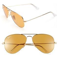 3da85377d9 Ray-ban Original Aviator Polarized Sunglasses in Orange - Lyst