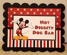 Custom Made Mickey Minnie Mouse Clubhouse hot diggity dog station