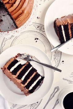 malted chocolate toasted marshmallow cake