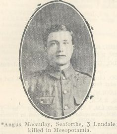 Lewismen lost in the Great War: Angus Macaulay, 3 Lundale